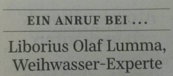 Weihwasser-Experte