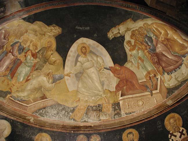 Interior of the Chora Church/Kariye Camii, Istanbul.